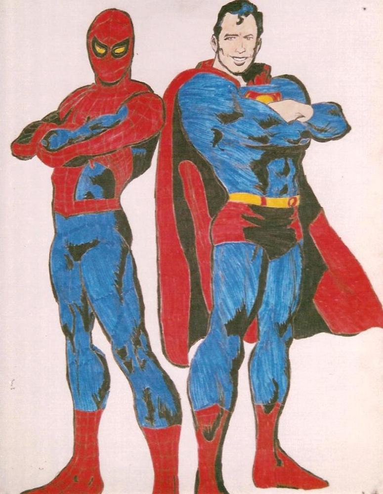 Superman, Spider-Man by Jean-61